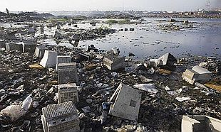 wasre computer products in third world landfill